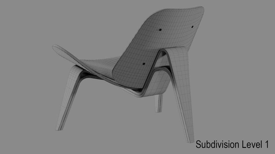 Hans Wegner Kabuk Sandalye royalty-free 3d model - Preview no. 11