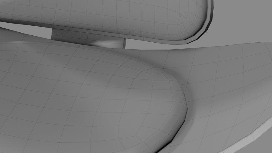 Hans Wegner Kabuk Sandalye royalty-free 3d model - Preview no. 15