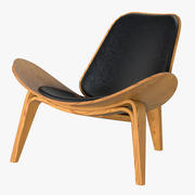 Hans Wegner Shell Cadeira 3d model