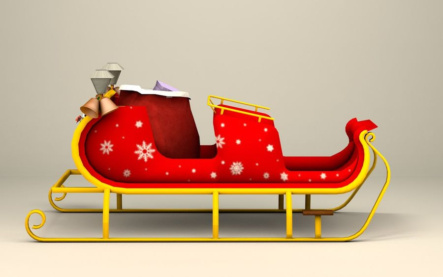 Santa Kızak royalty-free 3d model - Preview no. 10