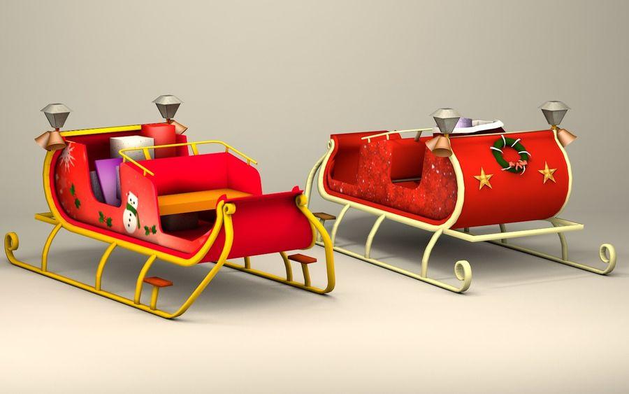 Santa Kızak royalty-free 3d model - Preview no. 2