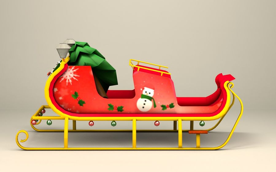 Santa Kızak royalty-free 3d model - Preview no. 5