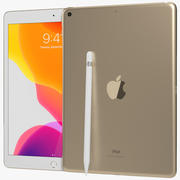 Apple iPad 7 10.2 (2019) WiFi e cellulare Gold 3d model