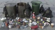Trash Scene HD 3d model
