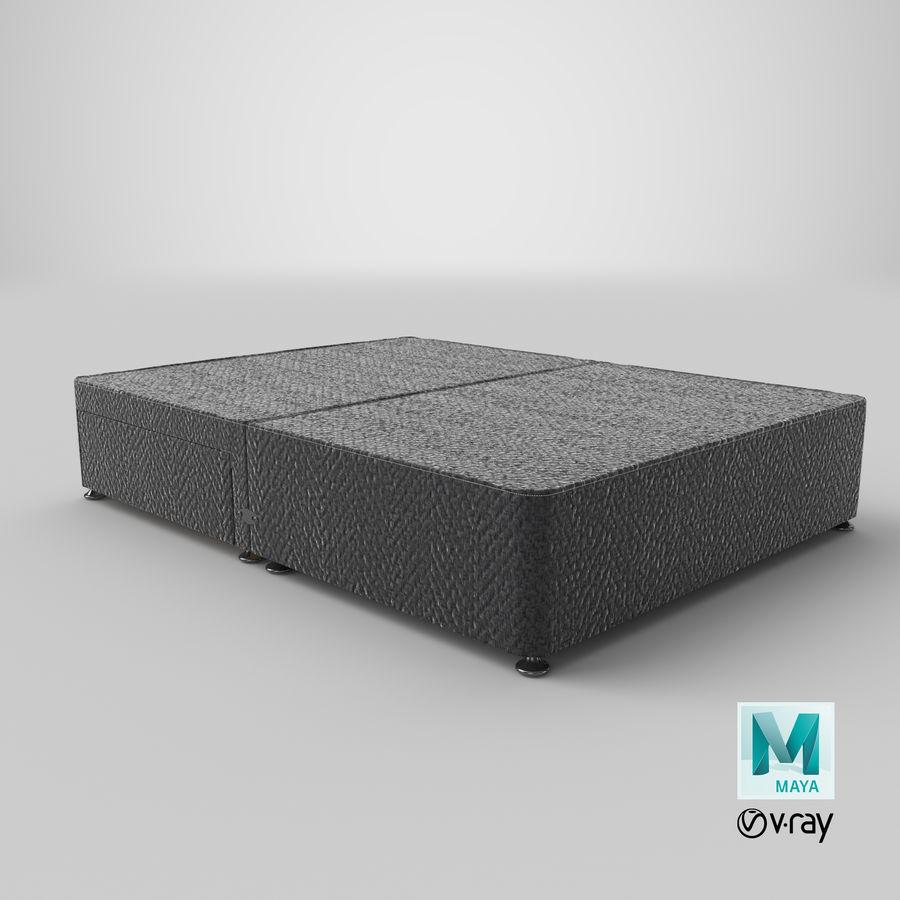 Baza łóżka 05 Węgiel drzewny royalty-free 3d model - Preview no. 1
