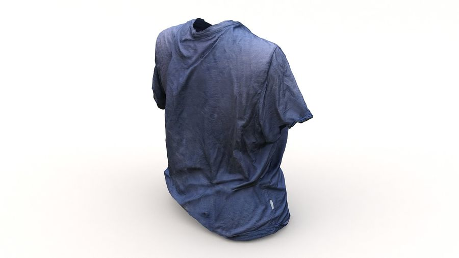 Odzież 87 T-shirt royalty-free 3d model - Preview no. 9