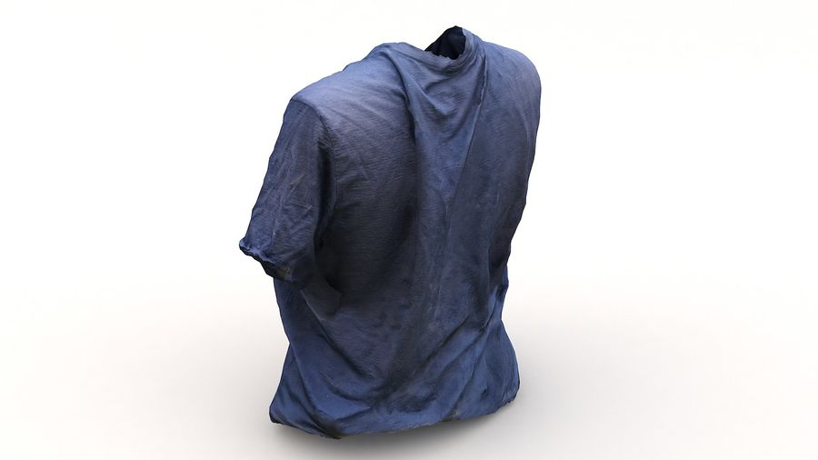 Odzież 87 T-shirt royalty-free 3d model - Preview no. 10