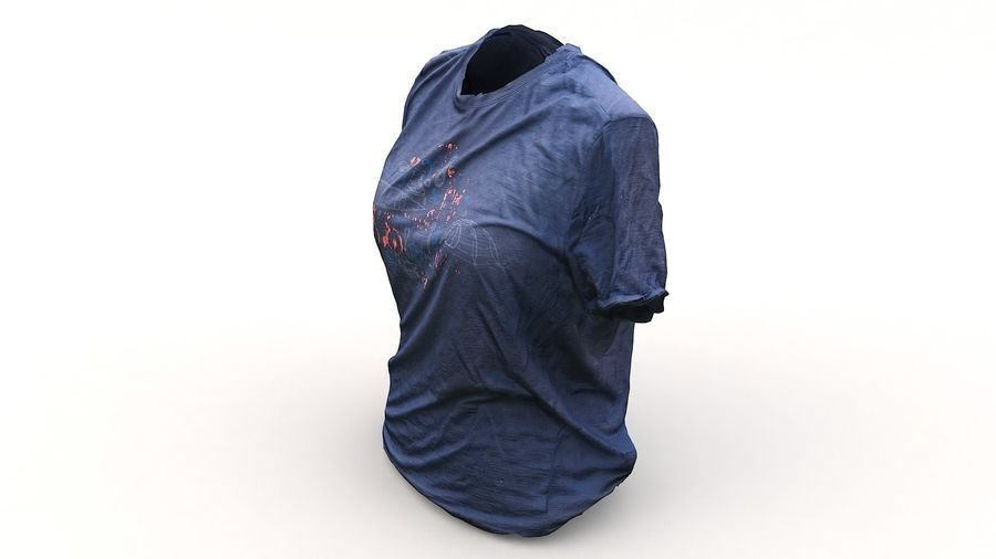 Odzież 87 T-shirt royalty-free 3d model - Preview no. 12