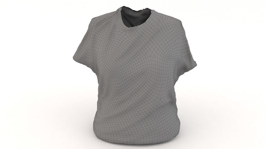 Odzież 87 T-shirt royalty-free 3d model - Preview no. 4