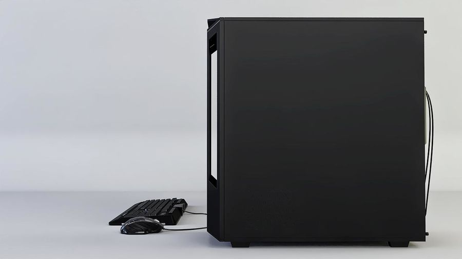 Gaming Desktop PC royalty-free 3d model - Preview no. 3