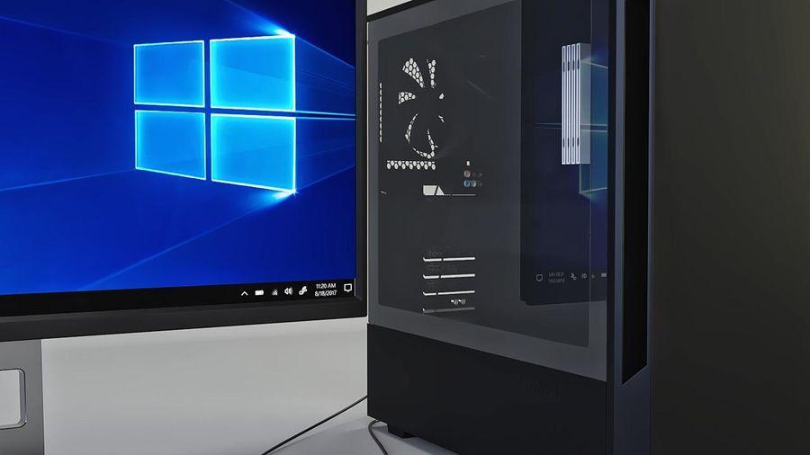 Gaming Desktop PC royalty-free 3d model - Preview no. 8