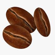 Koffieboon Niveaus van roosteren 3d model