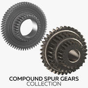 Compound Spur Gears Collection 3d model