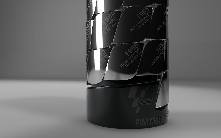 MotoGP Champions Tower 2019 L460 royalty-free 3d model - Preview no. 4