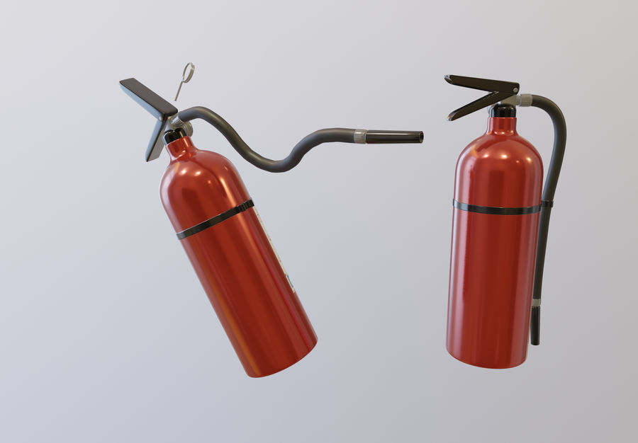 Fire Extinguisher royalty-free 3d model - Preview no. 2