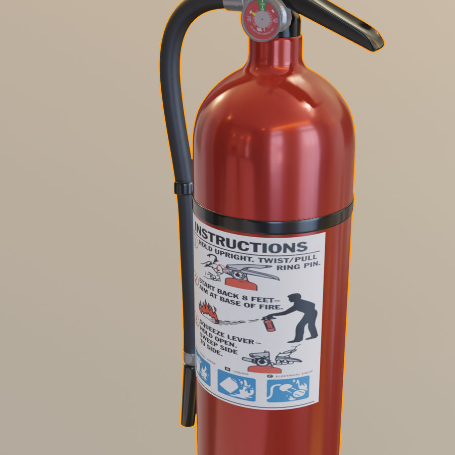 Fire Extinguisher royalty-free 3d model - Preview no. 14