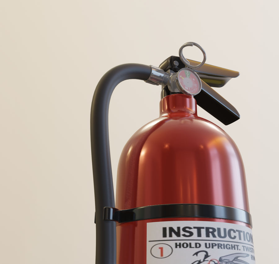 Fire Extinguisher royalty-free 3d model - Preview no. 11