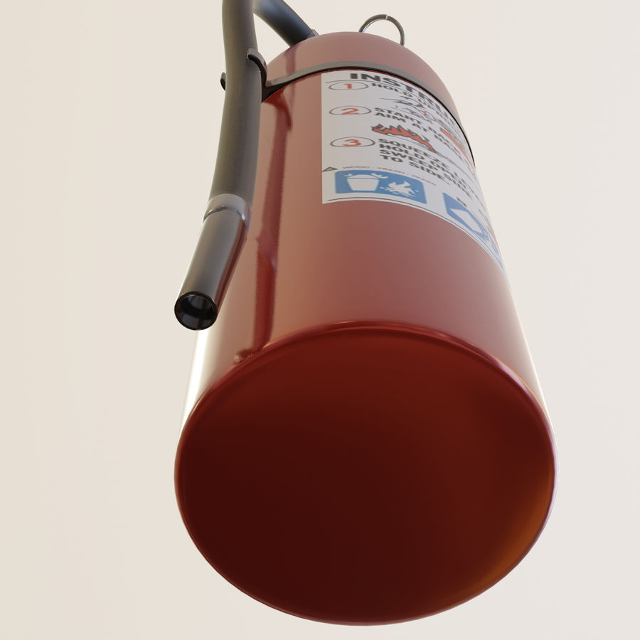 Fire Extinguisher royalty-free 3d model - Preview no. 8