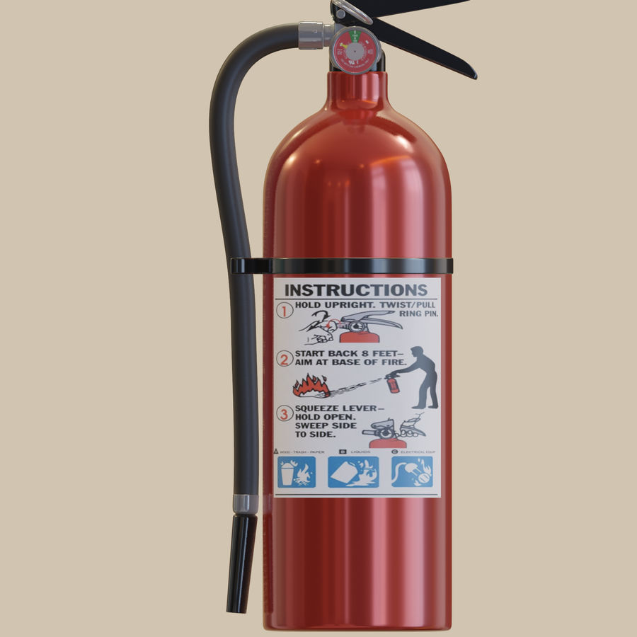 Fire Extinguisher royalty-free 3d model - Preview no. 12
