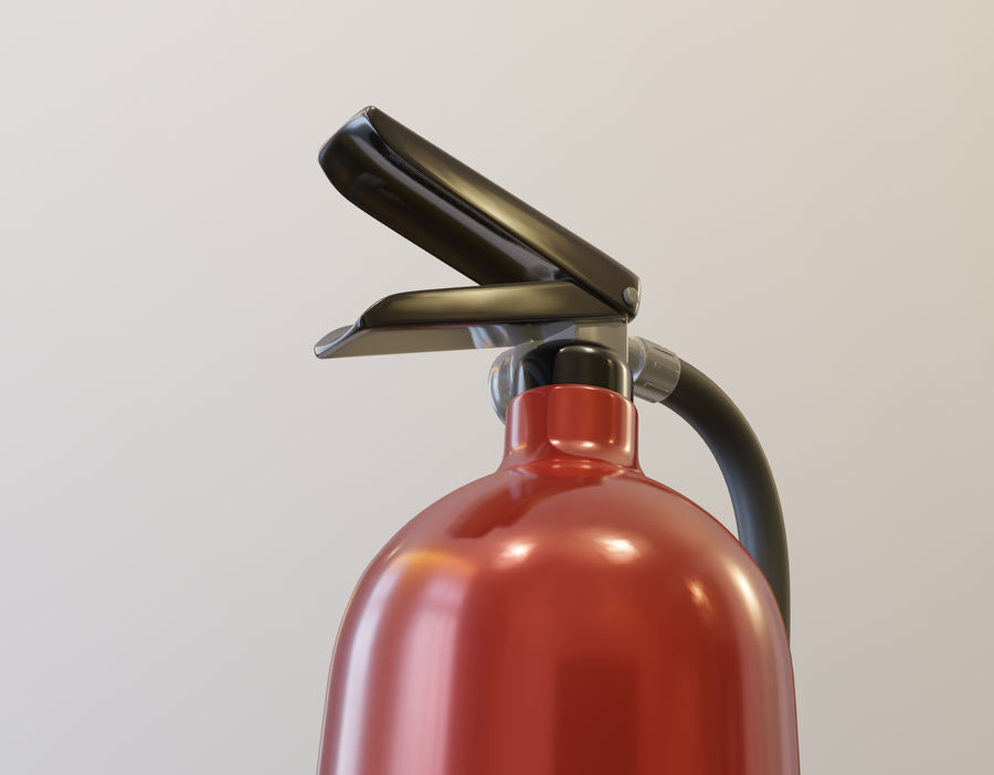 Fire Extinguisher royalty-free 3d model - Preview no. 6