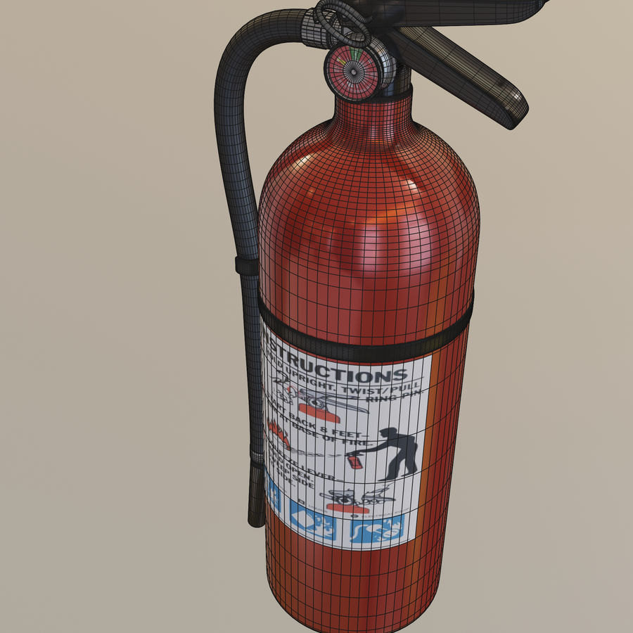 Fire Extinguisher royalty-free 3d model - Preview no. 15