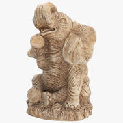 코끼리 동상 장식 3d model