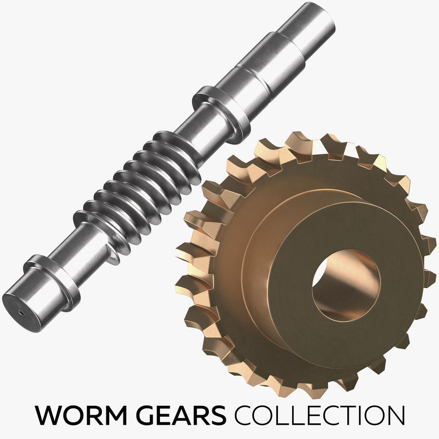 Worm Gears Collection royalty-free 3d model - Preview no. 1