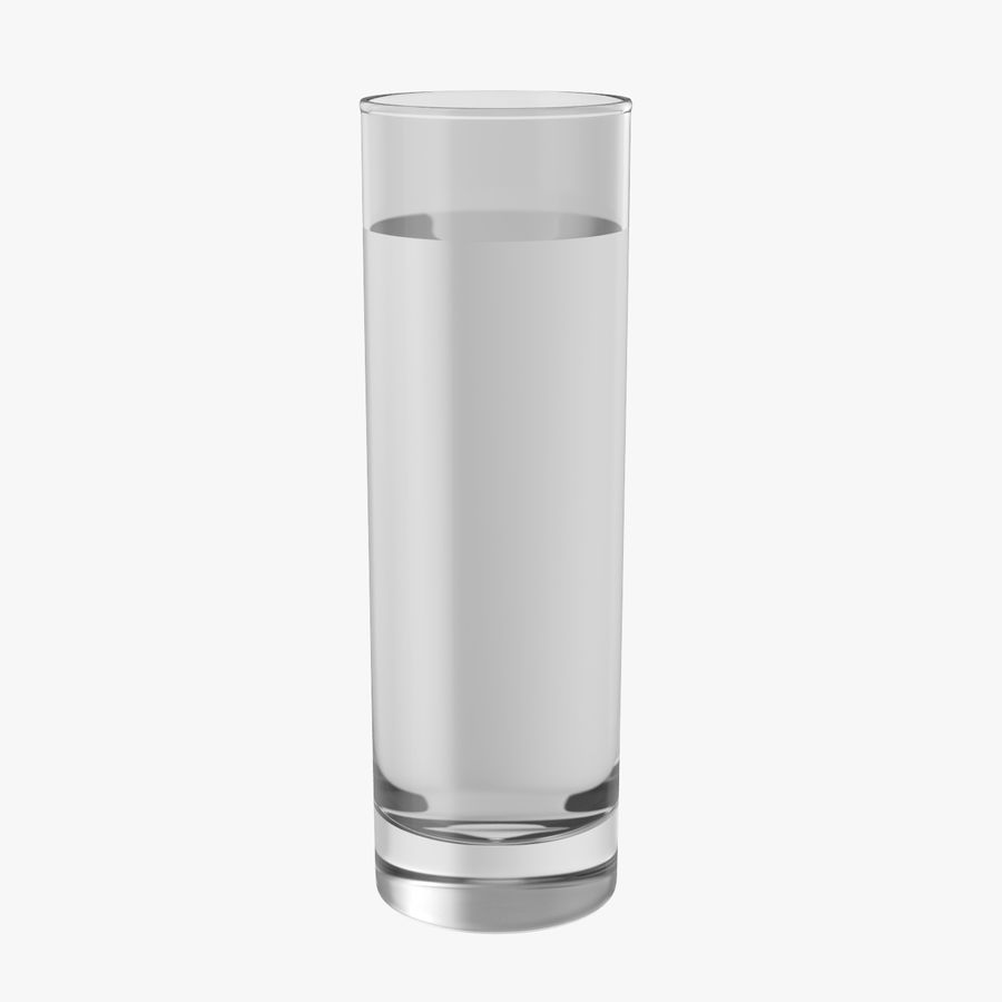 Collins Glass With Water royalty-free 3d model - Preview no. 1