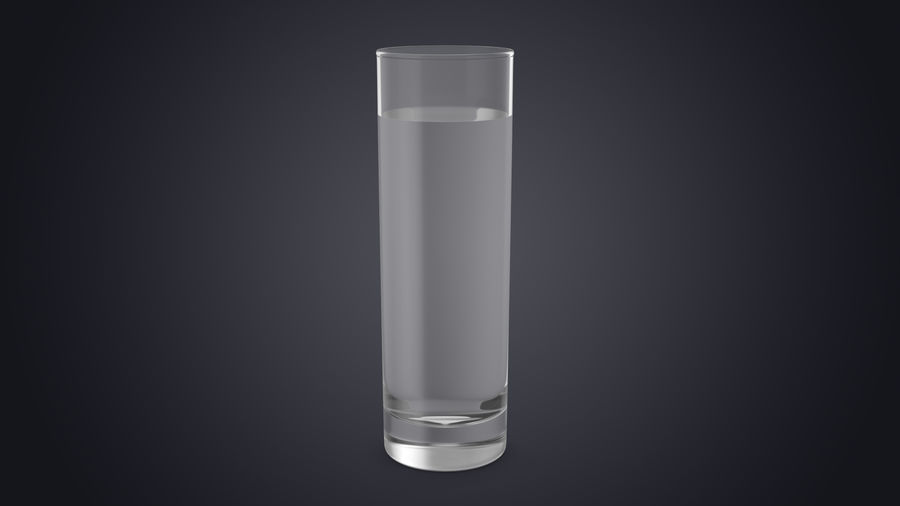 Collins Glass With Water royalty-free 3d model - Preview no. 2