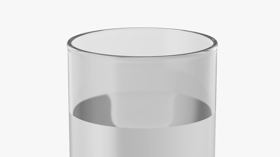 Collins Glass With Water royalty-free 3d model - Preview no. 4