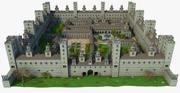 Средневековый город-замок 3d model