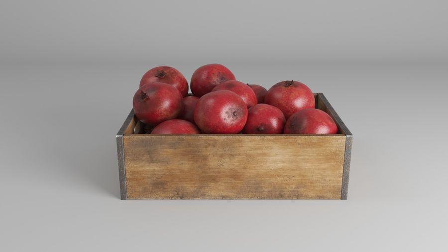 Caja de frutas de granada royalty-free modelo 3d - Preview no. 3