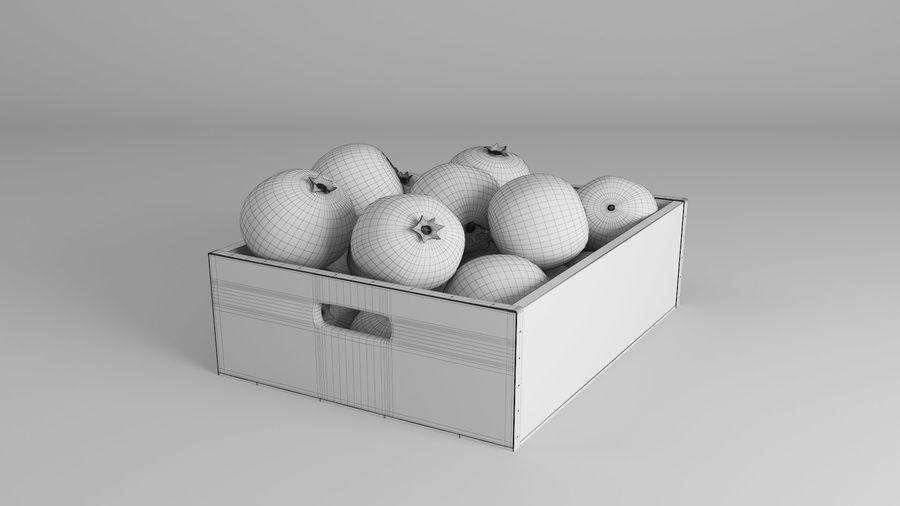 Caja de frutas de granada royalty-free modelo 3d - Preview no. 10