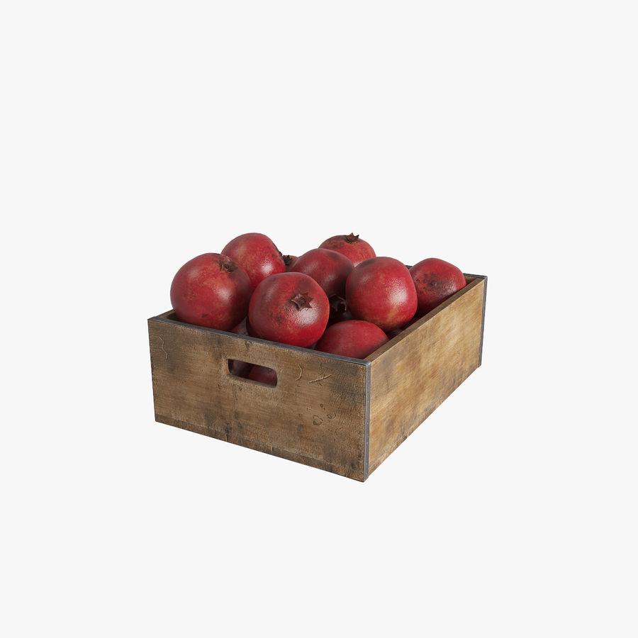 Caja de frutas de granada royalty-free modelo 3d - Preview no. 1