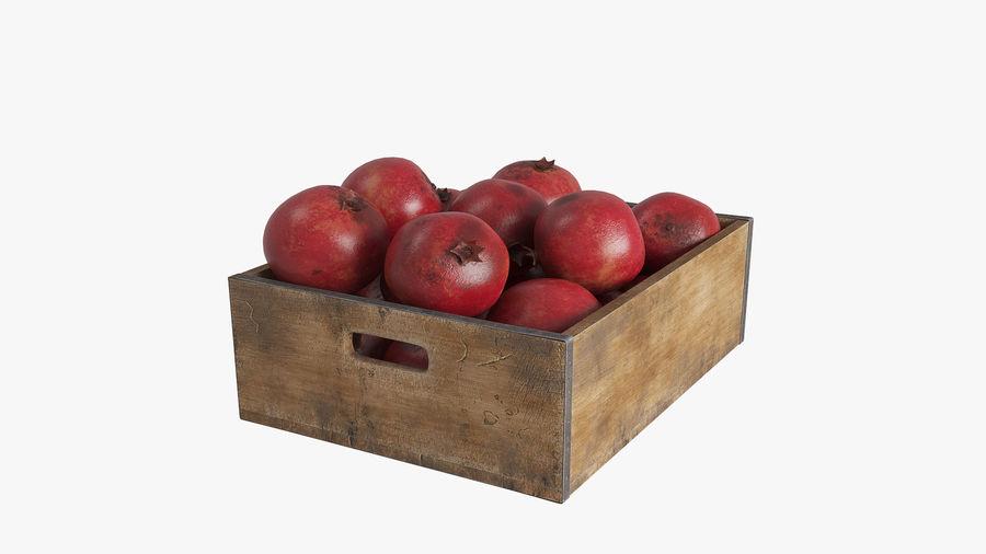 Caja de frutas de granada royalty-free modelo 3d - Preview no. 2