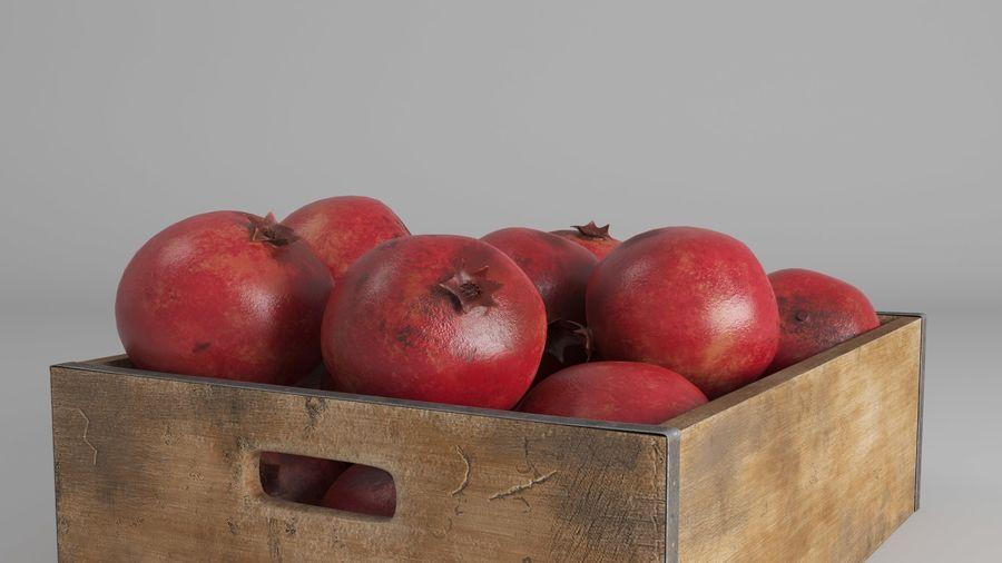 Caja de frutas de granada royalty-free modelo 3d - Preview no. 5