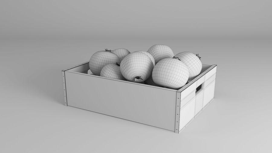 Caja de frutas de granada royalty-free modelo 3d - Preview no. 11