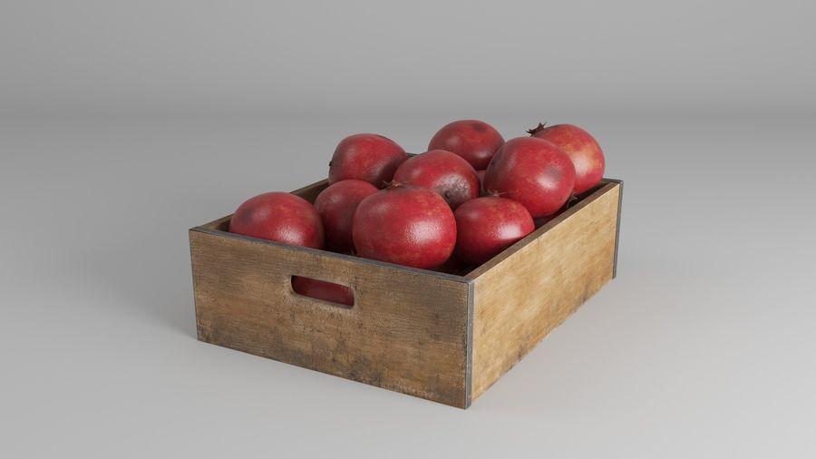 Caja de frutas de granada royalty-free modelo 3d - Preview no. 8
