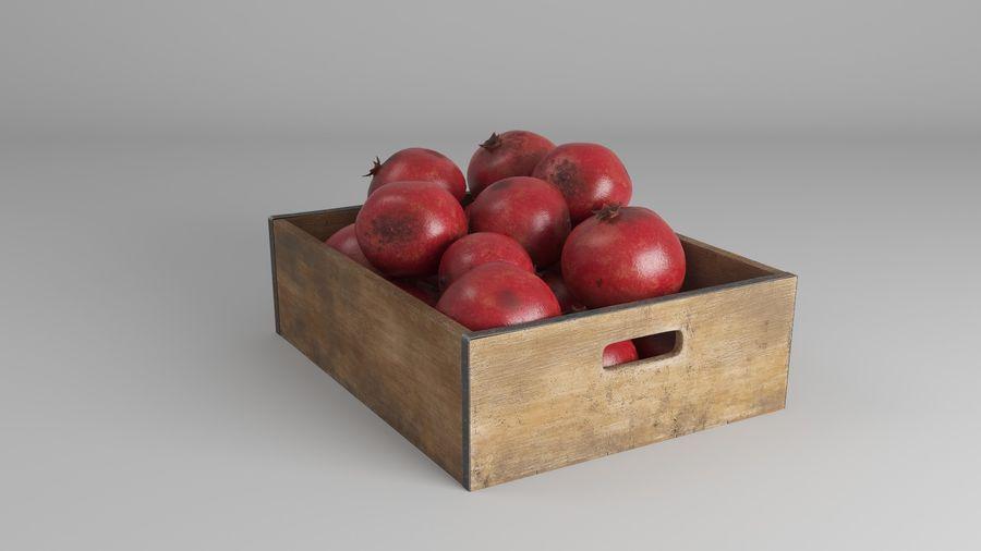 Caja de frutas de granada royalty-free modelo 3d - Preview no. 9