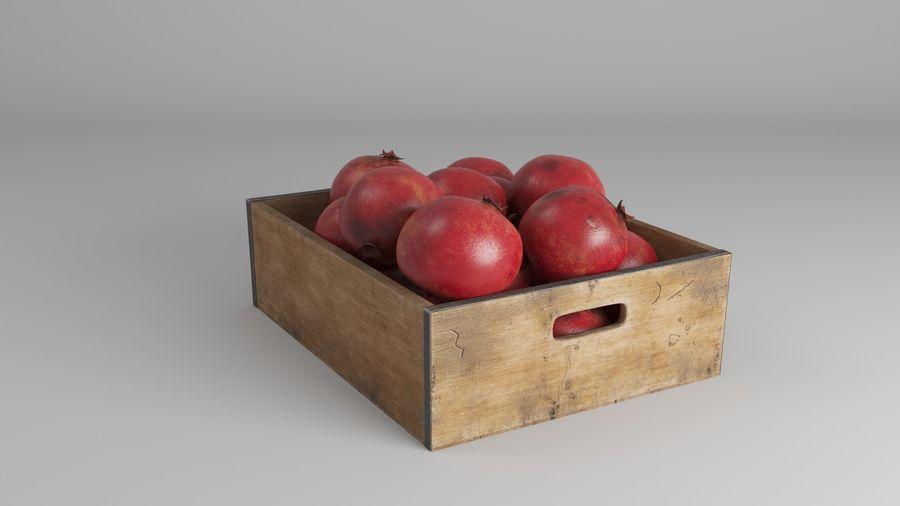 Caja de frutas de granada royalty-free modelo 3d - Preview no. 6