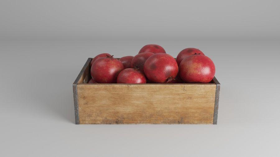 Caja de frutas de granada royalty-free modelo 3d - Preview no. 7