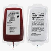 Model 3D kolekcji krwi i IV 3d model