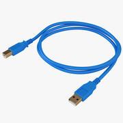USB Cable 03 3d model