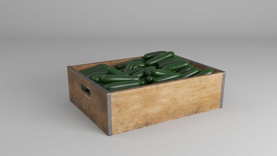 Caja de frutas de pepino royalty-free modelo 3d - Preview no. 7