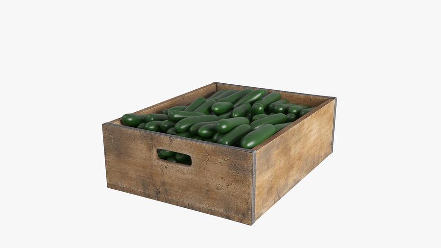 Caja de frutas de pepino royalty-free modelo 3d - Preview no. 2