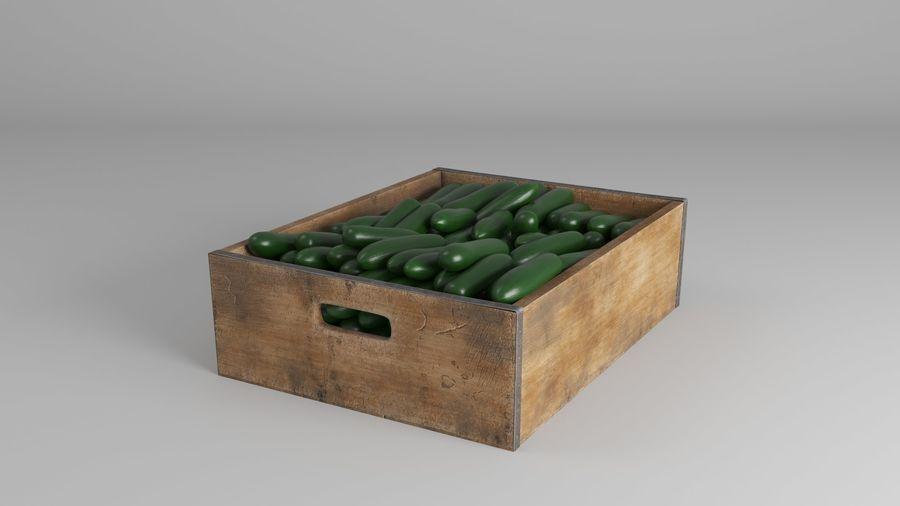 Caja de frutas de pepino royalty-free modelo 3d - Preview no. 4