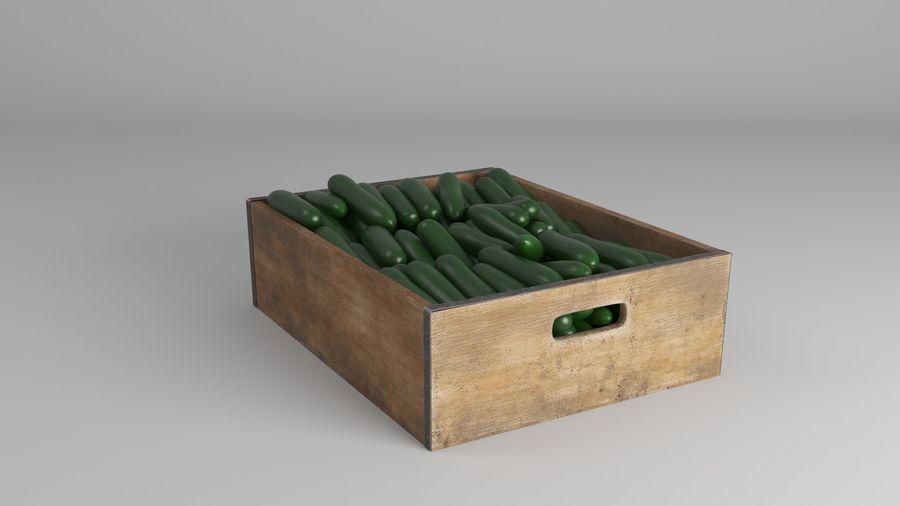 Caja de frutas de pepino royalty-free modelo 3d - Preview no. 8