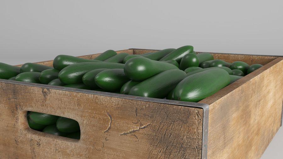 Caja de frutas de pepino royalty-free modelo 3d - Preview no. 5