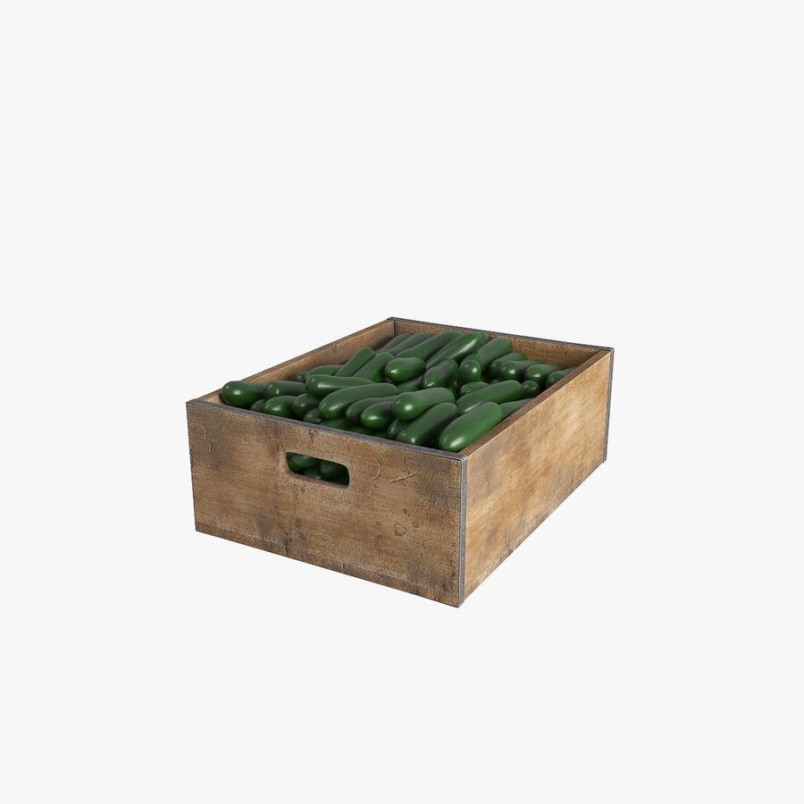 Caja de frutas de pepino royalty-free modelo 3d - Preview no. 1