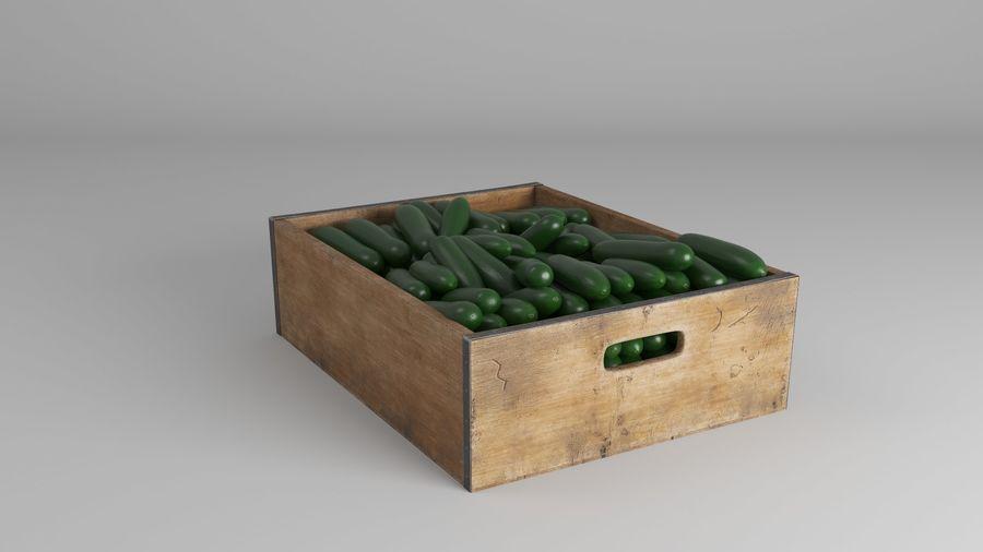 Caja de frutas de pepino royalty-free modelo 3d - Preview no. 6